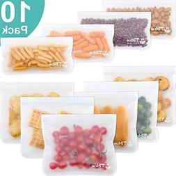 10 Pack Leakproof Freezer Reusable Storage Bag Reusable Zipl