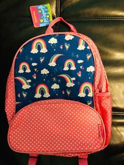 13' Stephen Joseph Toddler Backpack rainbow Book Bag School