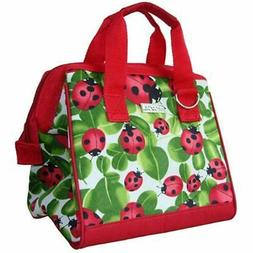 34-029 Insulated Fashion Lunch Tote, Ladybug Reusable Bags K