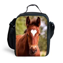 Xinind 3D Horse Insulated Lunch Bag for Kids Boys Girls Anim