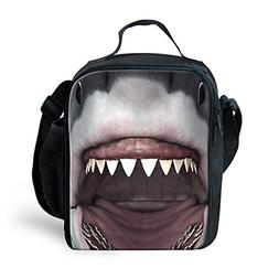 INSTANTARTS 3D Shark Lunch Bag Lunchbox Picnic Tote Keep Foo