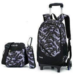 Meetbelify 3Pcs Rolling Backpack Boys Girls Trolley School B