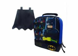 """Lego Batman 9.5"""" Dual Compartment Insulated Lunch Bag With D"""