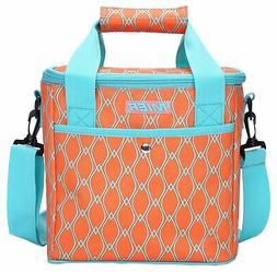 MIER 9 Can Insulated Lunch Bag for Women Leakproof Soft Cool