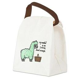 CafePress Alpaca Lunch Canvas Lunch Bag with Strap Handle