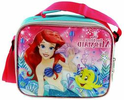 Disney Ariel Mermaid Pink Lunch Box Lunch Bag and Adjustable