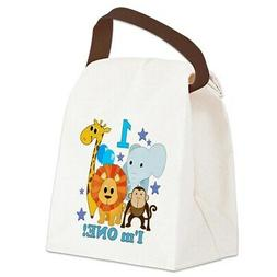 CafePress Baby1jungleanimals Canvas Lunch Bag with Strap Han