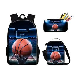 Basketball School Backpack and Lunch Bag Set Sport Bookbag S