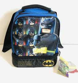 "Lego Batman 9.5"" Dual Compartment Lunch Bag With Bonus Detac"