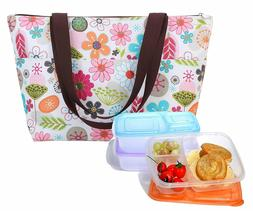 Dimayar Bento Lunch Box 3 Pieces 1 Insulated Lunch Bag Lunch