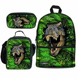 Bigcardesigns Boys School Bags Lunch Bag Pen Case 3 Pcs for