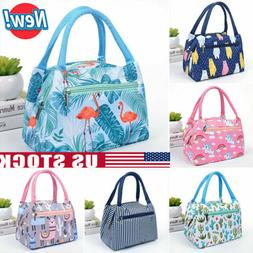 Cartoon Printed Lunch Bag Insulated Thermal Cool Bags Picnic
