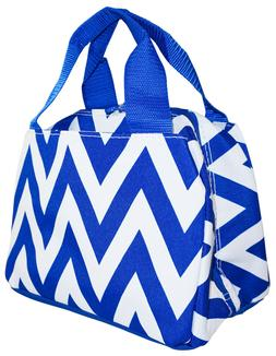 Chevron Reusable Lunch Tote Bag Insulated Thermal for Womens