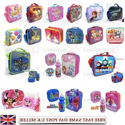 Childrens Kids Character Insulated Lunch Bag School Food Lun