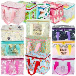 Childrens Kids Lunch Bags Insulated Cool Bag Picnic Bags Sch