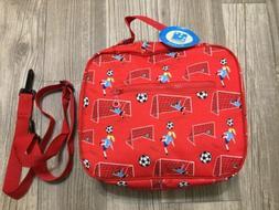 Wildkin Children's Lunch Box Red Girl Soccer Kids Insulate