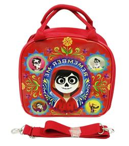 """Disney Coco Miguel """"REMEMBER ME"""" Red Insulated Lunch Bag w S"""