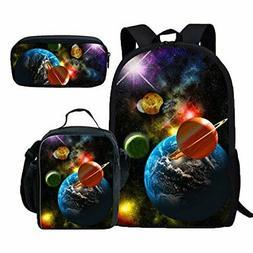 Coloranimal 3 Sets Shoulder School Bag+Lunch