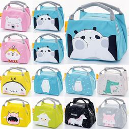 Cute Kids Cartoon Lunch Bags Insulated Cool Bag Portable Pic