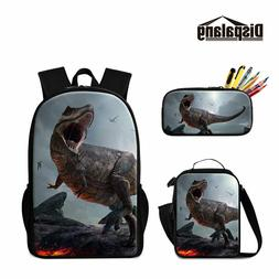 Dinosaur School Backpack Lunch Box Bag Pencil Case for Child