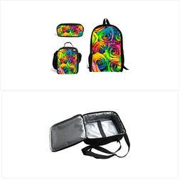 doginthehole rainbow rose school bag one set
