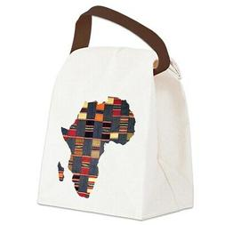 CafePress Ethnic African Tapestry Canvas Lunch Bag with Stra