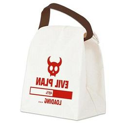 CafePress Evil Plan Loading Canvas Lunch Bag with Strap Hand