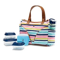 Fit & Fresh Norwich Insulated Lunch Bag Set for Women with B