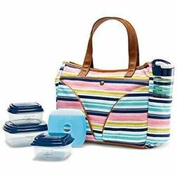 "Fit "" Fresh Norwich Insulated Lunch Bag Set For Women With B"