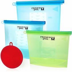 Food Storage Bags Reusable Freezer Lunch Cooking BPA Free Zi