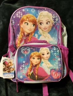 """Disney Frozen Anna and Elsa """"Sisters are Magic"""" 16"""" Backpack"""