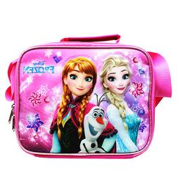 Disney Frozen Elsa, Anna & Olaf Pink Girls Insulated Lunch B