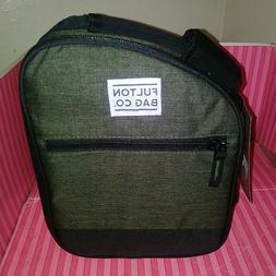 Fulton Bag Co. Lunch Bag - Gray & Black - Free Shipping