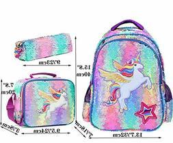 Girls Backpack Set School Bag Lunch Box Elementary Bookbag U