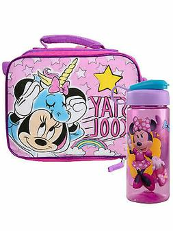 Girls Minnie Mouse Insulated Lunch Bag Unicorm w/ Disney 16.