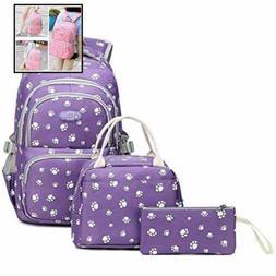 Girls School Backpacks Kids Bookbag Set For Elementary Middl
