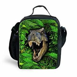 Bigcardesigns Green Dinosaur Lunch Shoulder Bag Insulated Po