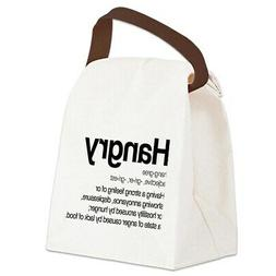 CafePress Hangry Definition Canvas Lunch Bag with Strap Hand