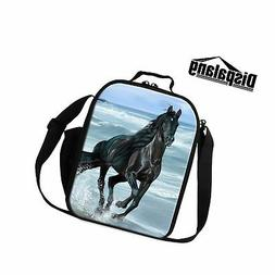 Dispalang Horse 3D Printed Lunch Bags for Children Small Ins