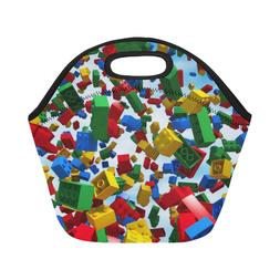 Hot Selling Custom Lego Block Insulated Lunch Container Picn