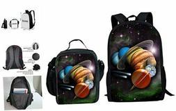HUGS IDEA Universe Space Pattern Boys School Backpack Lunch