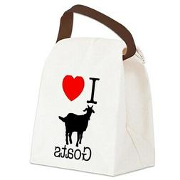 CafePress I Heart Goats Canvas Lunch Bag with Strap Handle