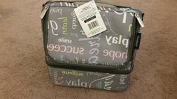 WildKin Inspirational Words Large Double Decker Lunch Bag Co