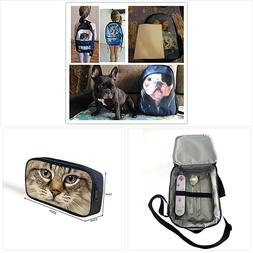 instantarts boston terrier school shoulder backpack satchel