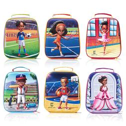 JCT Kids Insulated 3D Lunch Bags Cute, Reusable, Portable, G