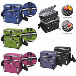 insulated lunch bag dual compartment thermal leakproof