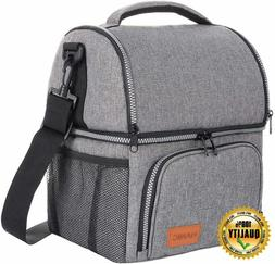 Hanic Insulated Lunch Bag For Men LARGE Box Women Adult Lunc