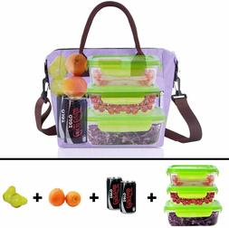 Insulated Lunch Bag, Leak-Proof Cooler Lunch Tote Bag for Wo