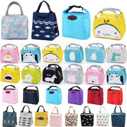 Women Kids Insulated Lunch Bag Thermal Cooler Picnic Food Bo