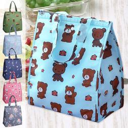 Insulated Waterproof Lunch Bento Tote Bag Thermal Lunch Box